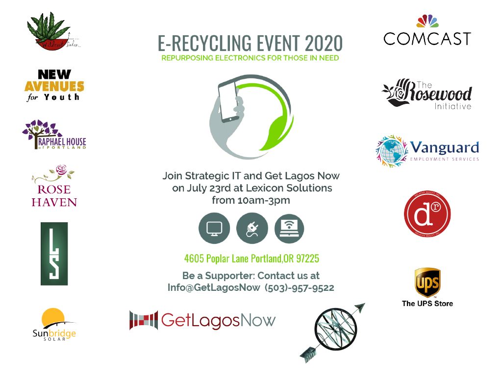 Join us at the E-Recycling Event on July 23rd from 10am – 3pm